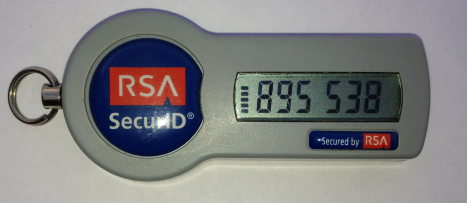 RSA key-fob with digit display